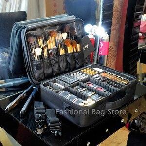 Image 1 - Make up Tasche Organizer Professionelle Make Up Künstler Box Größeren Taschen Nette Korea Koffer Make Up Koffer mode kosmetik tasche Fall