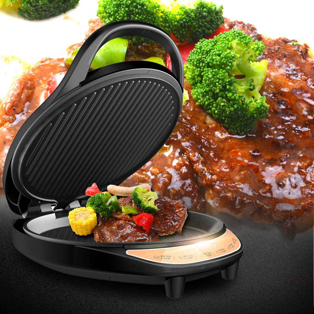 220 V 1350 W accueil électrique crêpières Pizza crêpe pâte casseroles Restaurant cantine spécialement fournitures outils de cuisine