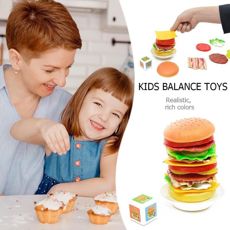Simulation Food Kitchen Pretend Play Assembled Hamburger ...