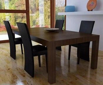 50 cm 4 piezas elegante moderna de madera maciza sillas de comedor cómodo  sintética Durable de comedor de cuero sillas negro muebles para el hogar