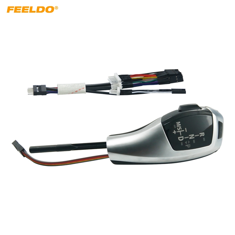 FEELDO Upgrade To LHD LED Electronic Gear Shift Knob For BMW E46 2D Facelifted/E46 4D Pre facelift & Facelifted #5814