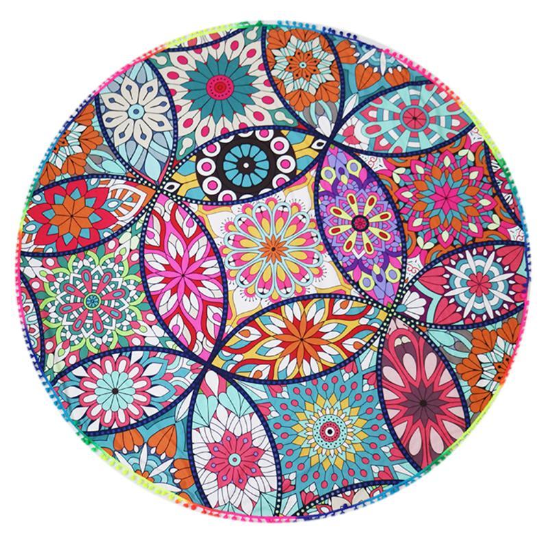 @1  Красочный мяч кисточкой пляжное полотенце йога коврик Blacket Tippet 6 ★