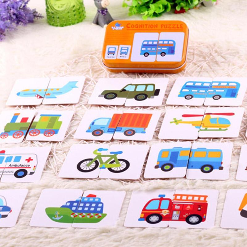 32pcs/Box Kids Baby Cognitive Cards Montessori Materials Fun Flash Early Educational Cards Baby Enlightenment Training Card