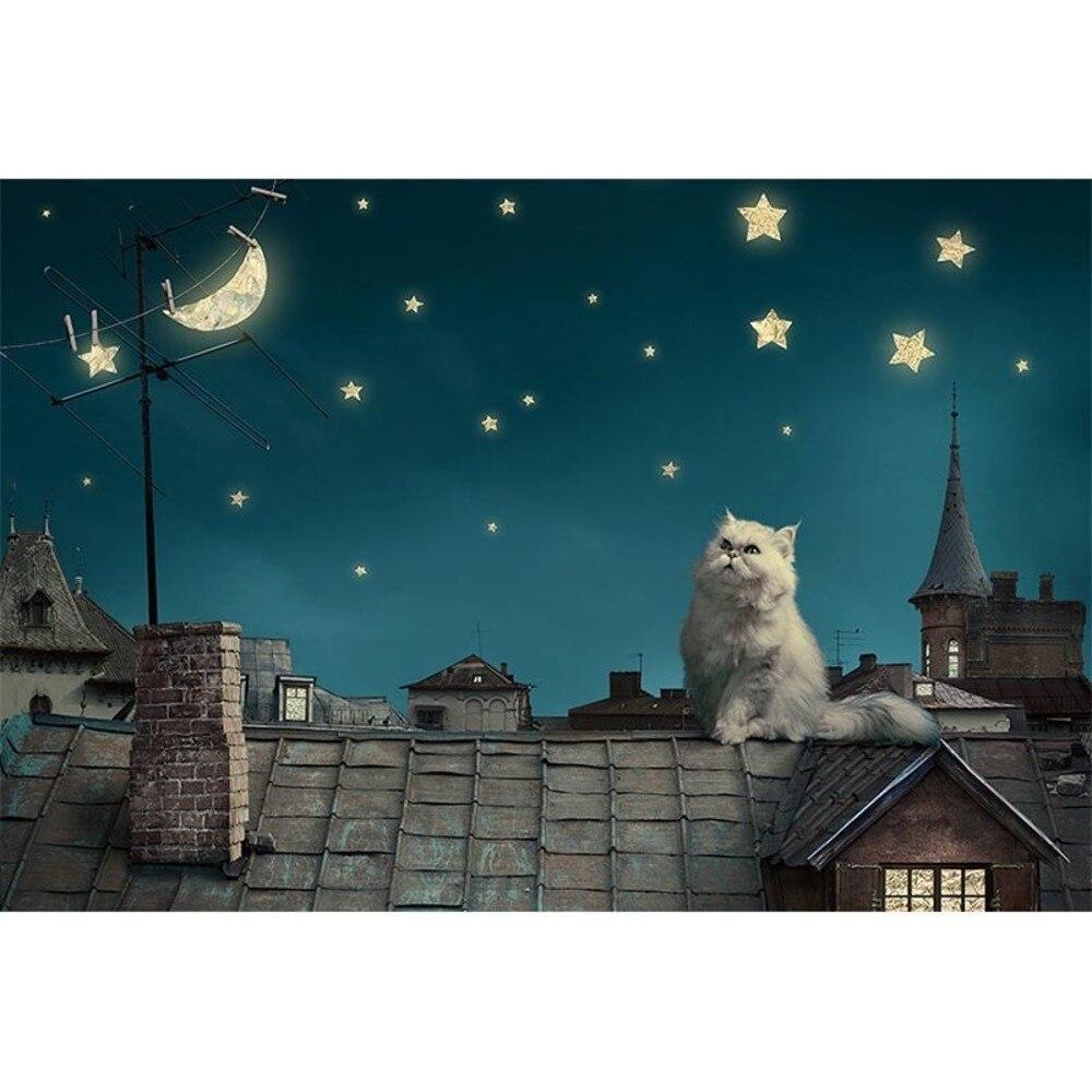 Nouveauté Puzzle 1000 pièceen bois mignon chat pensée monde adultes Puzzle 1000 pièces sombre nuit chat éducatif jouet décoration