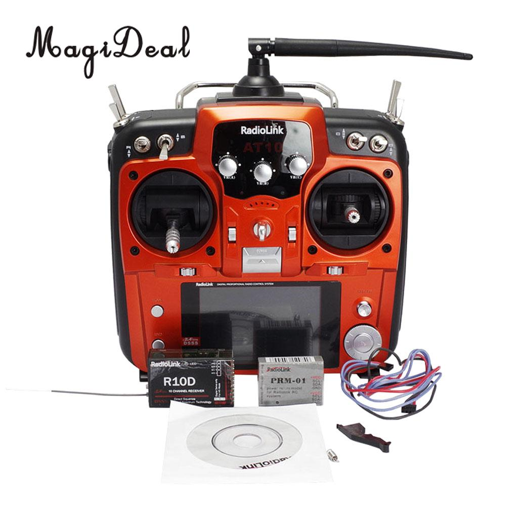AT10II 2.4GHz 12CH RC Aircraft Transmitter with R12DS Receiver Radio System radiolink r12ds 12ch 12 channel receiver 2 4ghz for at10 at10ii transmitter aircraft aerial photography device f04939