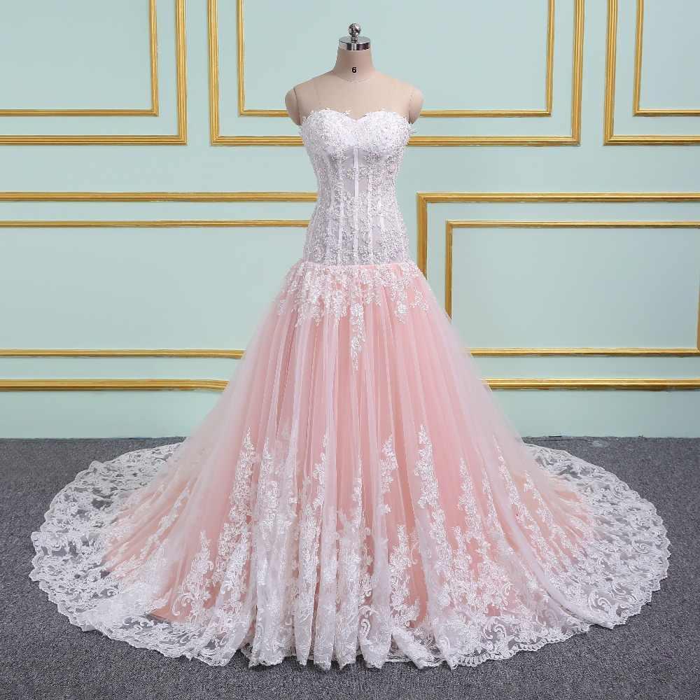 771512c6f7a Katristsis d 2019 аппликации Русалка Свадебные платья с открытыми плечами  Иллюзия белый цвета слоновой кости