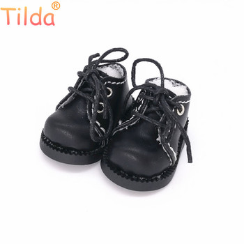 Tilda 1/6 Doll Boots Toy Shoes For Blythe Pullip Doll,4cm Mini Leather Boots Shoes for Blyth Accessories for EXO KPOP 15cm Dolls