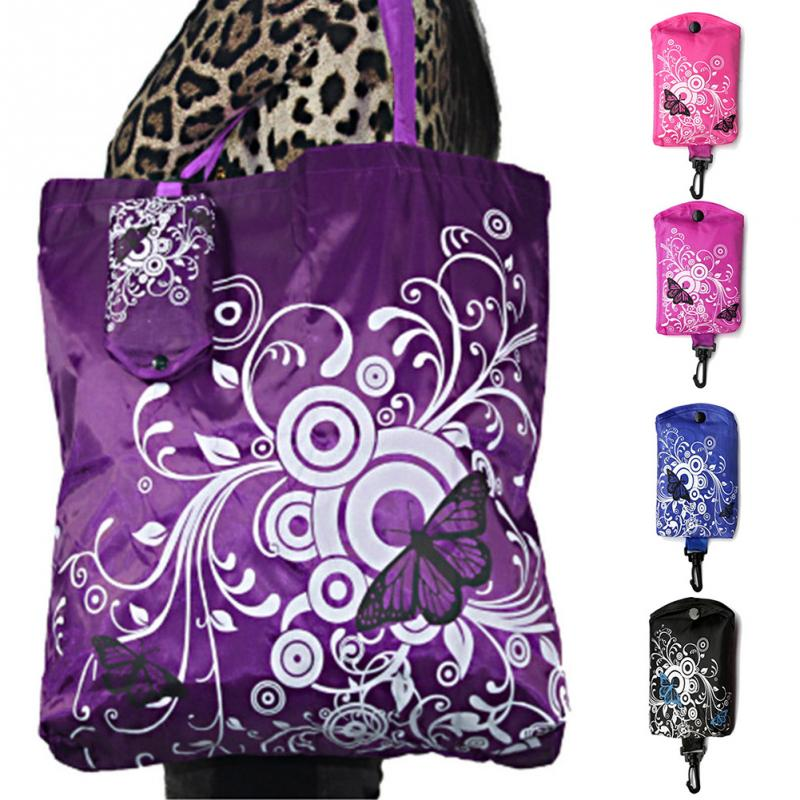 Useful Shopping Bag Eco Totes Grocery Butterfly Reusable Bag Foldable Pouch Shoulder Drop Shiping #125