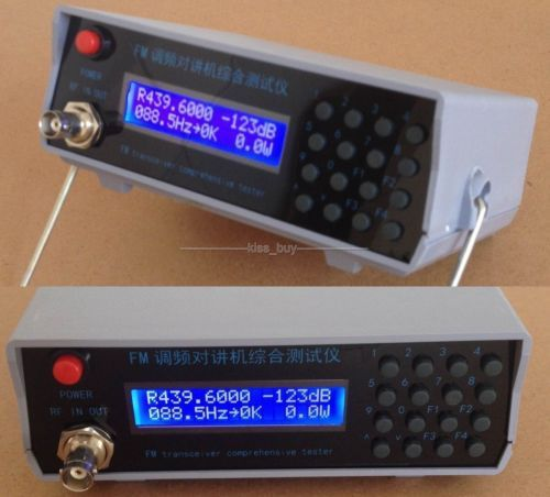 RF signal generator FM Power CTCSS Frequency Meter Tester Transmit receiver