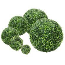 จำลองพลาสติกสีเขียวLeave Ballหญ้าประดิษฐ์หญ้าBallบ้านสวนจัดงานแต่งงานตกแต่ง
