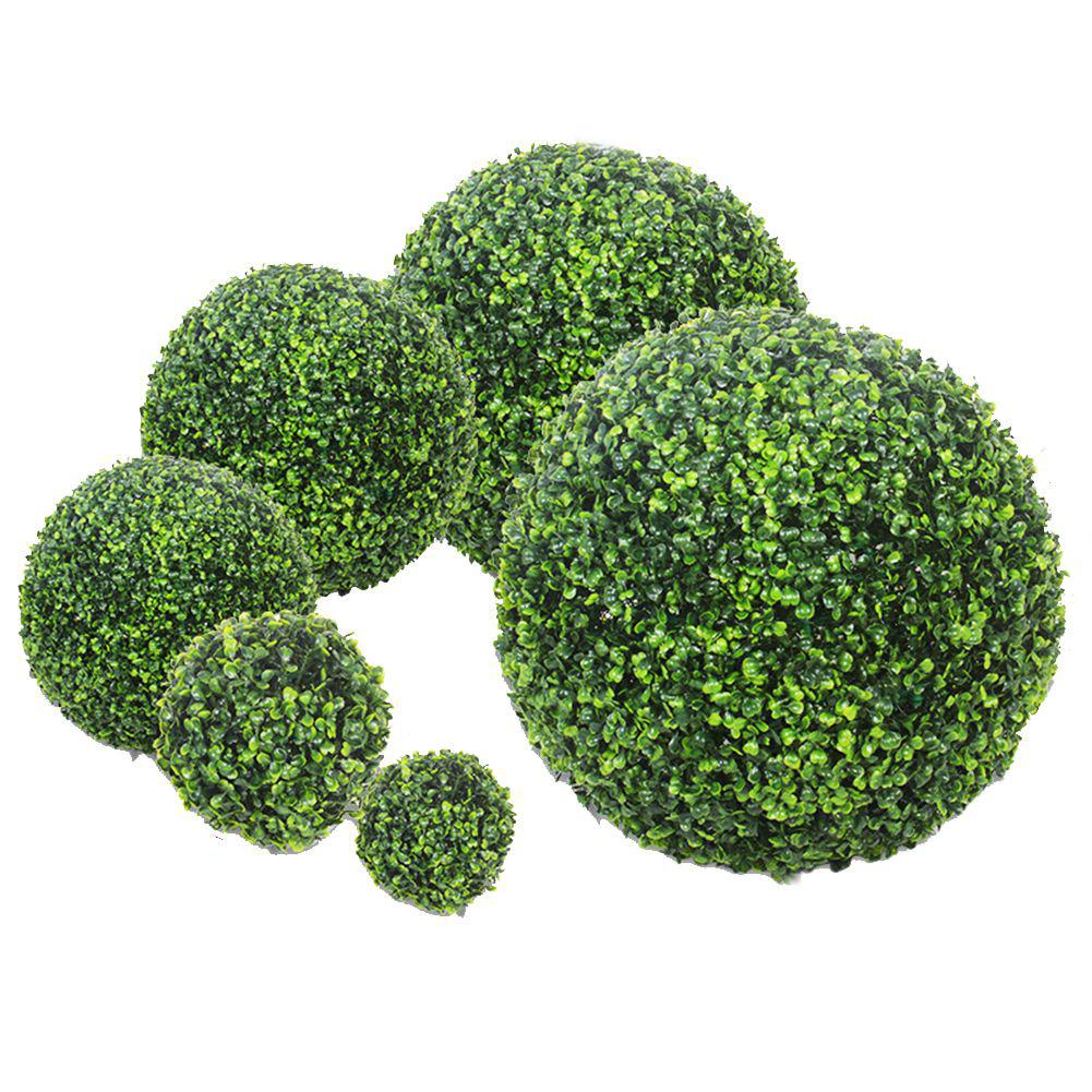 Simulate Plastic Green Leave Ball Artificial Grass Ball Home Garden Wedding Party Decoration-in Artificial & Dried Flowers from Home & Garden