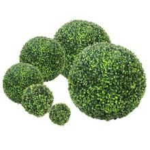 Simulate Plastic Green Leave Ball Artificial Grass Ball Home Garden Wedding Party Decoration