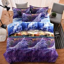 4 Piece/Set Home 3D Ultra Soft Fade Resistant Luxury Bed Sheet Set Bedroom Comfortable Breathable Bedclothes Home Textiles(China)
