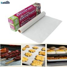 Papier de cuisson à l'huile de silicone double face 5 m / 10 m, papier huileux à haute température, papier de cuisson pour four à barbecue et micro-ondes