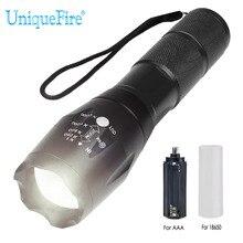 UniqueFire BTC-03 XM-L2 20000 люмен 5 режимов Масштабируемые Мощный светодиодный обновления фонарик регулируемый фонарь с линзой факел для кемпинга