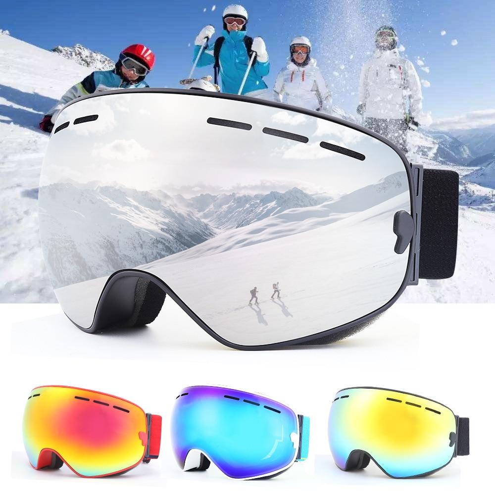 Adulte Hommes Femmes Professionnel Lunettes de Ski Snowboard Avec Cas Double Lentille UV400 Anti-brouillard Neige D'hiver Shi Lunettes Ski lunettes