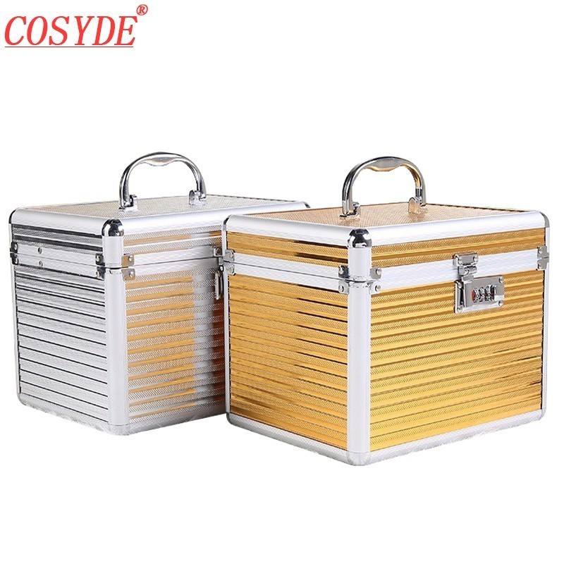 Cosyde Anti-theft Travel Cosmetic Bag Makeup Bags Cosmetic Case Aluminum Alloy Cosmetic Bag Women Bolso Cosmetico Cosmetic Box