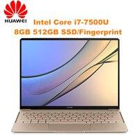 HUAWEI MateBook X Laptop Intel Core I7 7500U Dual Core 8GB RAM 512GB SSD 2160x1440 13 inch FHD Screen Fingerprint Recognition