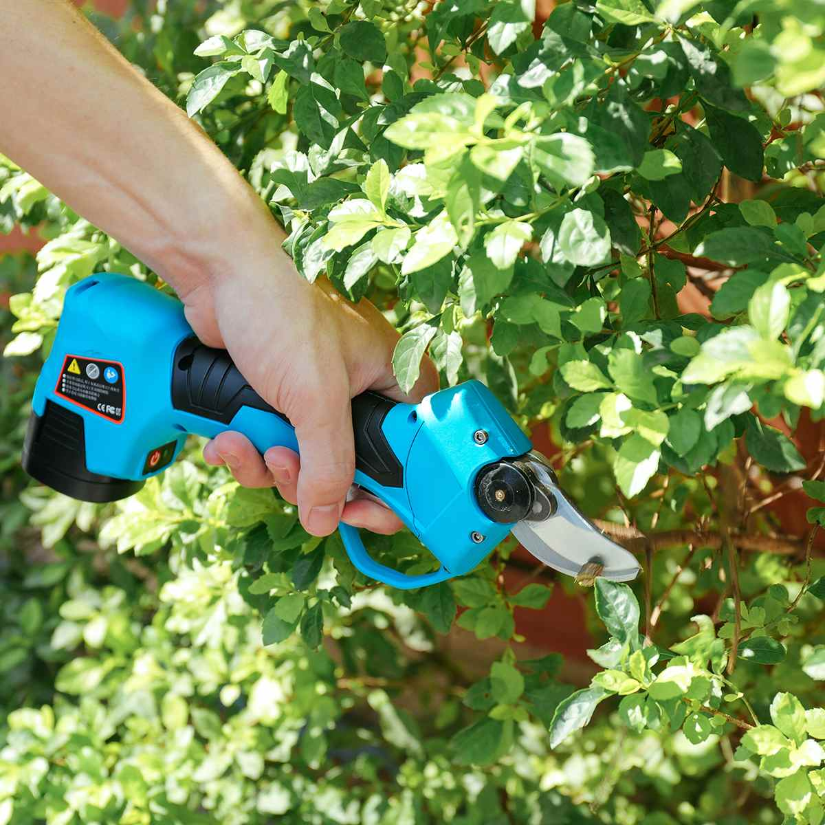 16.8V Li ion Battery Rechargeable Electric Cordless Secateur Branch Cutter Pruning Shears for Sharp Cutting Tool to Fruit Garden