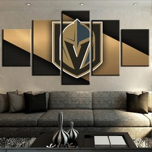 5 Piece Canvas Art Ice Hockey Sport Soldiers Logo Modern Decorative Paintings on Wall for Home Decorations Decor