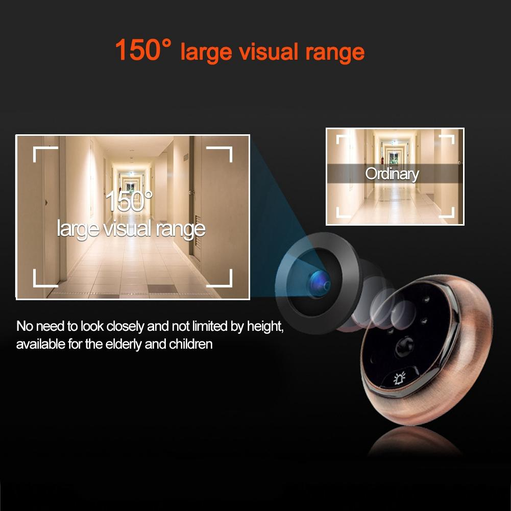 Image 3 - 4.3in Smart WiFi Doorbell Cat Eye Camera IR Night Vision Motion Detection Alarm Unique Detachable Battery Design deurbel-in Doorbell from Security & Protection