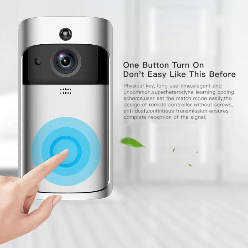 V5 Visual WiFi Smart Doorbell 2 Way Talk 720P Camera Night Vision Intercom 3