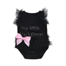 Infant Baby Bodysuit Newborn Clothes  Letter Printed Bodysuits Cotton Spring Sleeveless Jumpsuit For Girl Fashion