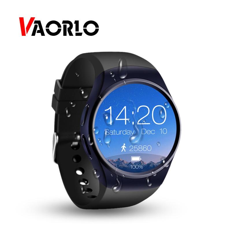 VAORLO NEW KW18 Smart Watch Men Bluetooth Smartwatch Support SIM TF Card Full Screen Smart Wristband