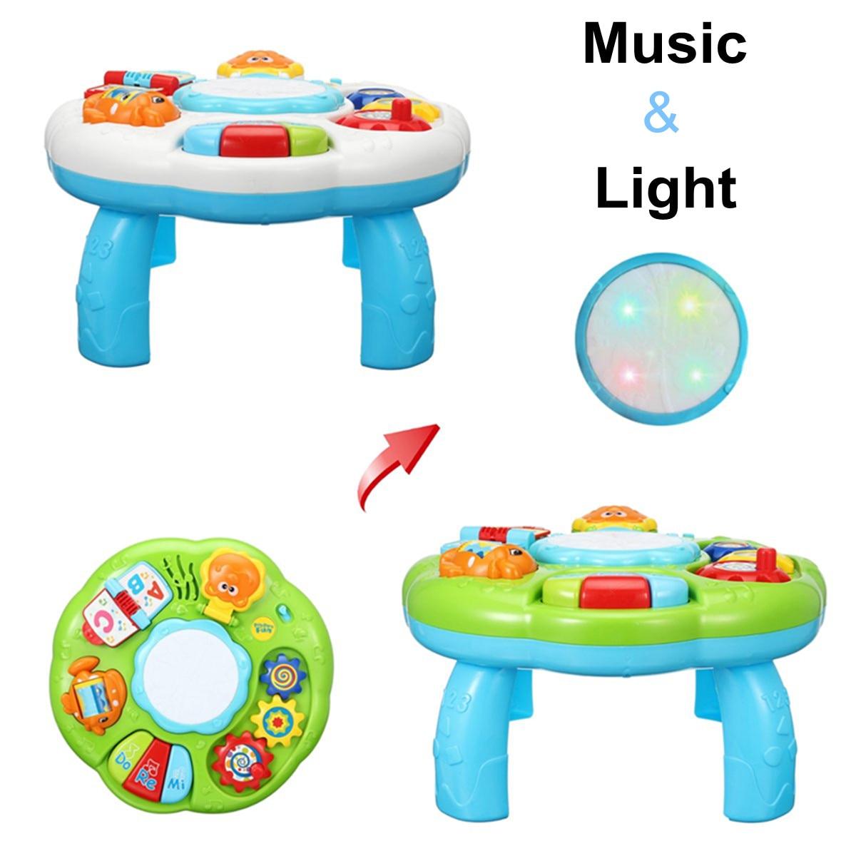 Baby Speelgoed Muzikale Tafel Spelen Activiteit Center Spel Leren Educatief Machine Speelgoed Tafel Muziekinstrument Voor Kinderen Geschenken