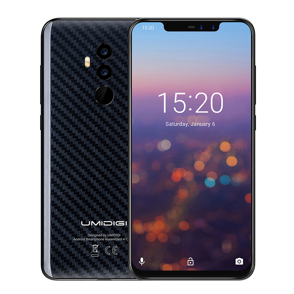 UMIDIGI Z2 PRO 4G Smartphone Android 8.1 Phablet 6.2 Inch Helio P60 Octa Core 2.0GHz 6GB + 128GB 16.0MP + 8.0MP GPS Mobile Phone