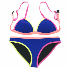 CHING YUN bikini 2019 Style Swimsuit push up swimsuit women swimwear beachwear Neoprene Contrast stitching swimsuit SC006 купальник overflowing kai 1379 2015summer women neoprene swimwear bikini triangl