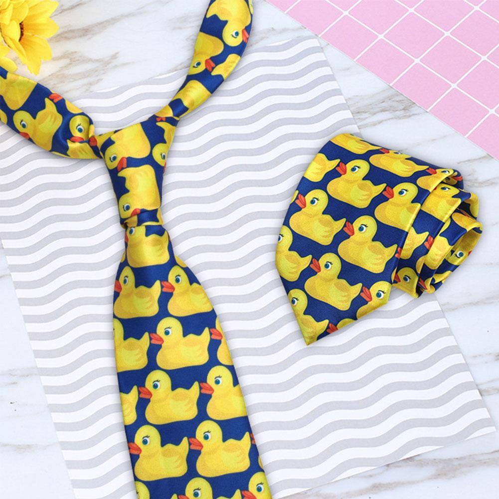 Funny Cartoon Yellow Duck Neck Tie For Men Business Suit Tie Neckwear Accessories
