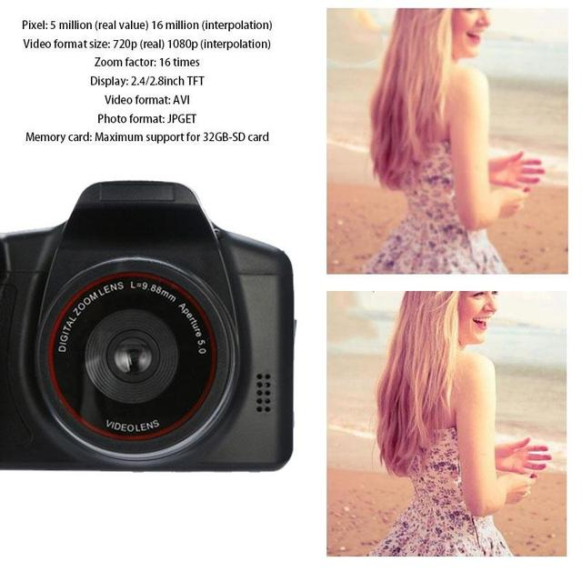 1080P HD Camcorder Video Camera 16X Digital Zoom Handheld Professional Anti-shake Camcorders With 2.4″ LCD Screen DV Recorder Consumer Electronics