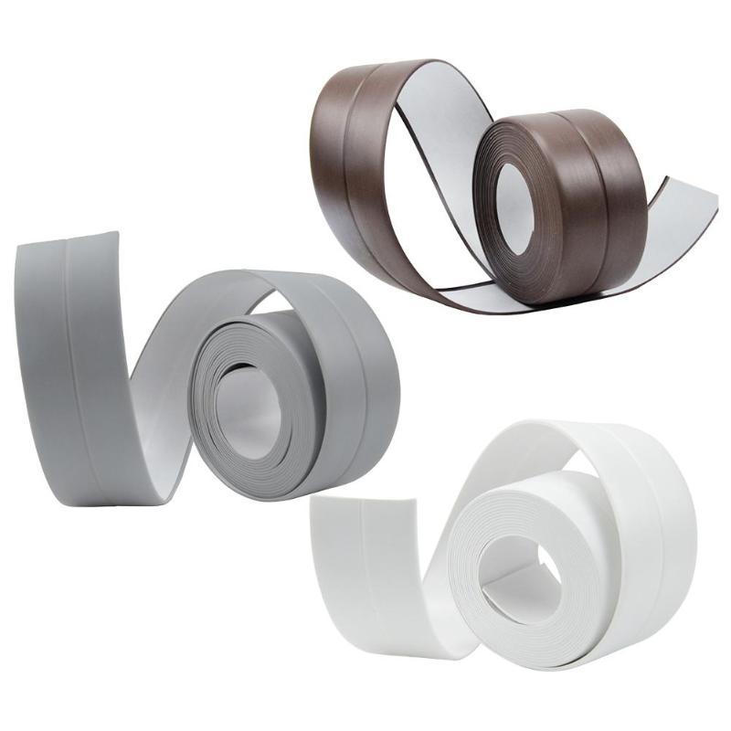 Kitchen Waterproof Mildew Proof Adhesive Tape Toilet Corner Sealing Sticker Protectors Sink Slit Wallpaper