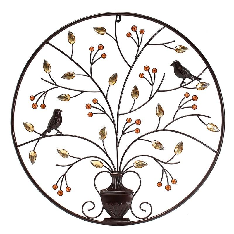 "Love Bird Swirled Tree of Life 20/"" tall Metal Wall Art Decor by HGMW"