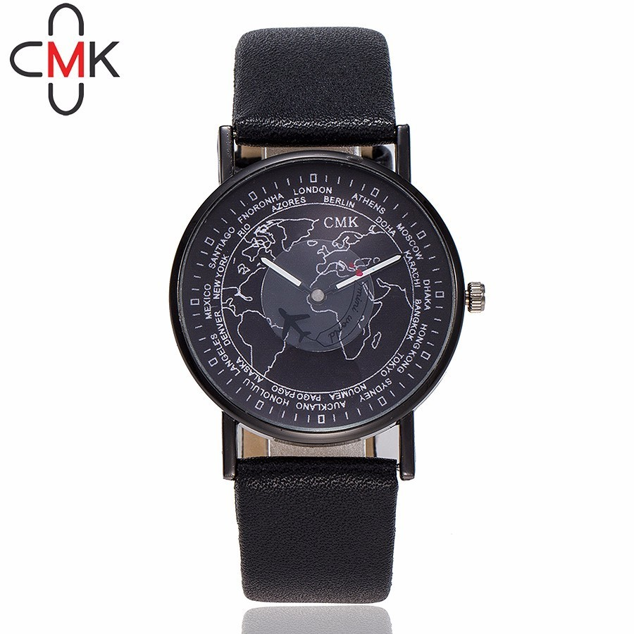 Lover's Watches Fashion# Global Travel By Plane Map Denim Fabric Band Watch Women Relogio Feminino 7 Colors Dress Watches Drop Shipping