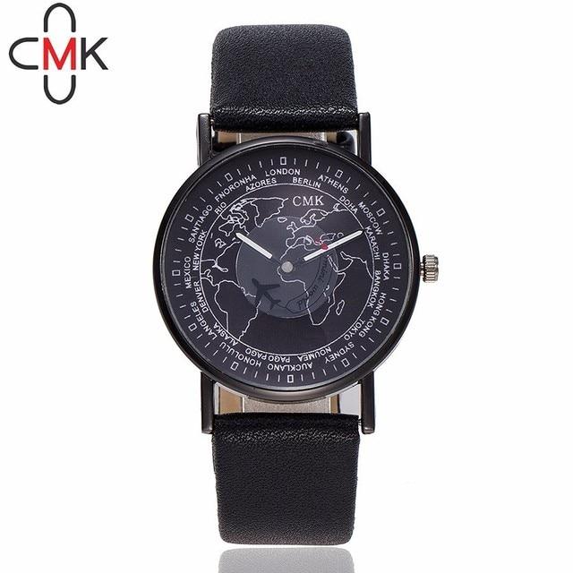 US $3.27 |Dropshipping Fashion Women Air Plane World Map Watch Luxury Women  Leather Watches Quartz Watch CMK Brand Relogio Feminino-in Women\'s Watches  ...
