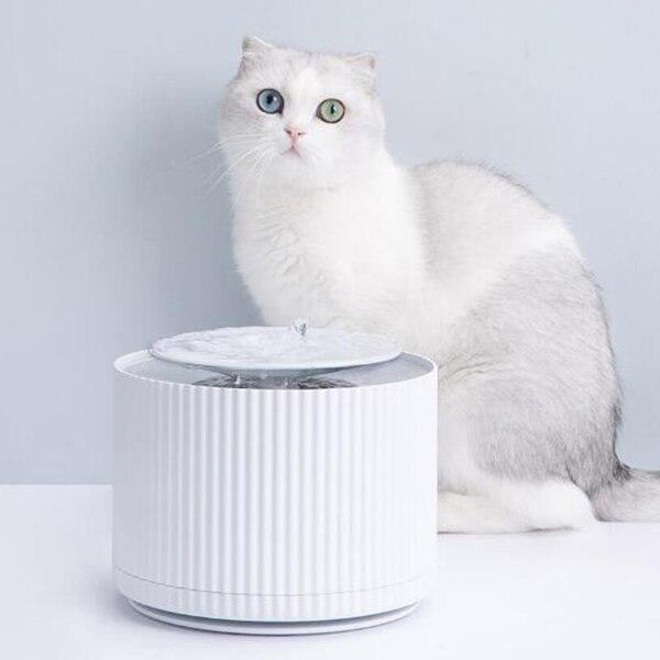 Distributeur d'eau de chat intelligent Xiaomi Youpin Original Rechargeable cinq fois filtre Triple muet mangeoires d'eau automatique pour chien chat