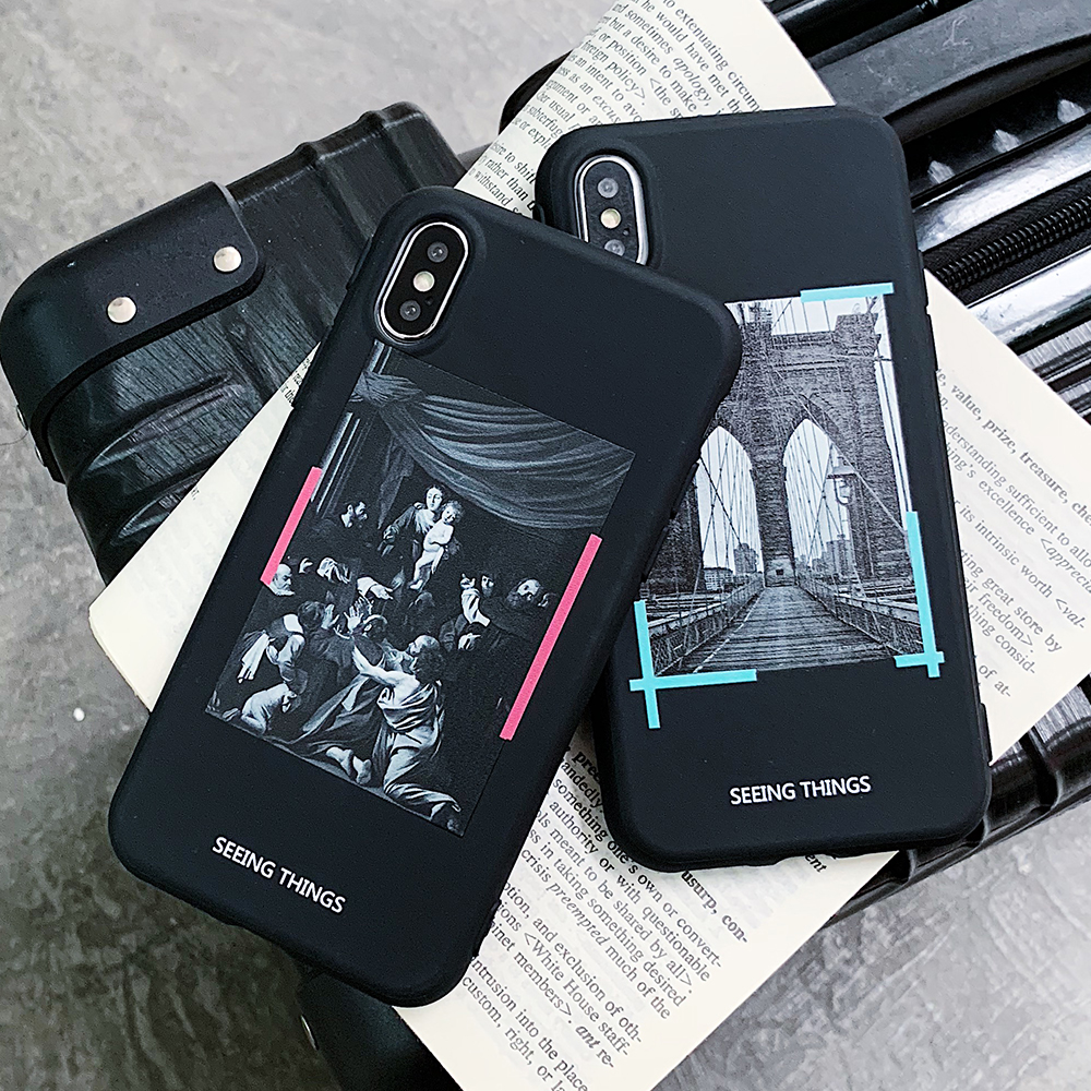 Snoody Design Black Back Cover TPU Paint Emboss Mobile Shell for
