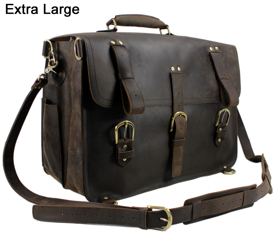 vintage Crazy Horse leather men travel bag luggage bag big genuine leather travel backpack Large Men duffle bag weekend-in Travel Bags from Luggage & Bags    1