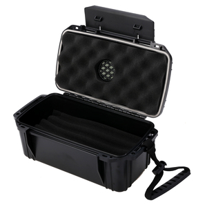 Mayitr Black Waterproof Humidifier Portable Cigar Humidor Box/Tobacco Pipe For Home Travel Dust-proof Shockproof Cigar Accessory