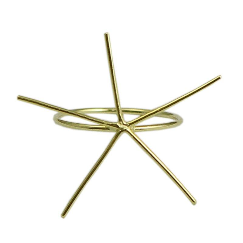 Beadsnice ID39494smt2 1 pc/lot anneau rempli d'or facile à monter anneau de bande d'or bijoux à bricoler soi-même anneau de griffe blanc - 4