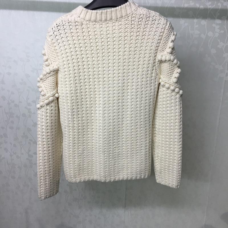 Qualität Für 2019 Hohe Oansatz Strickjacken Frauen Herbst Pullover Mode Gestrickte Luxus xanZfO