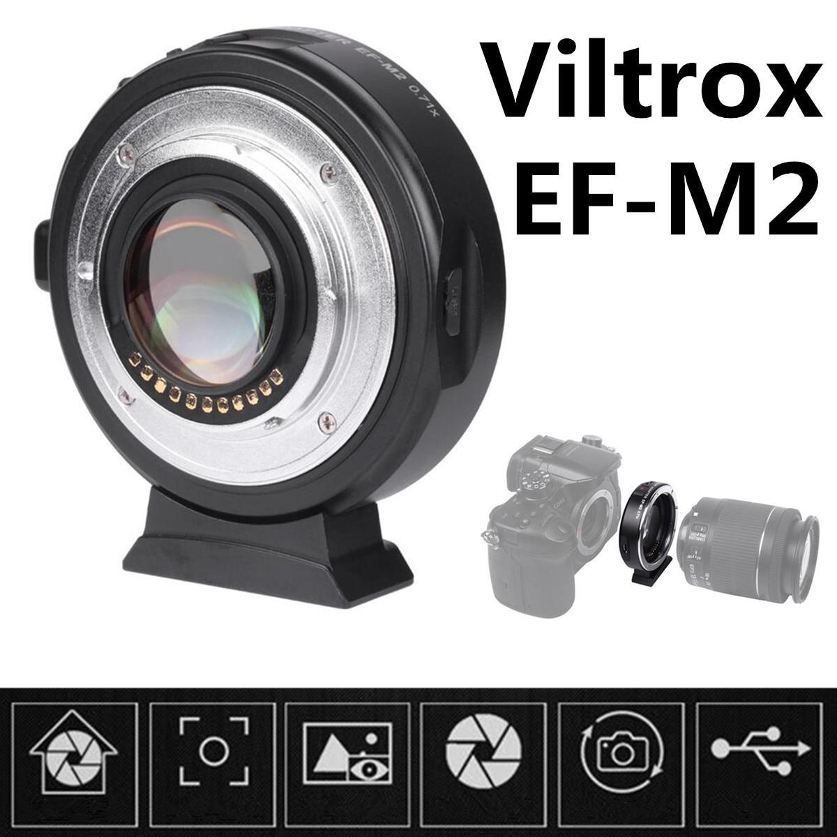 EF-M2 II réducteur Focal Booster adaptateur électronique Auto-focu 0.71x pour Canon EF monture objectif à EOS M caméra M6 M3 M5 M10 M100 M50