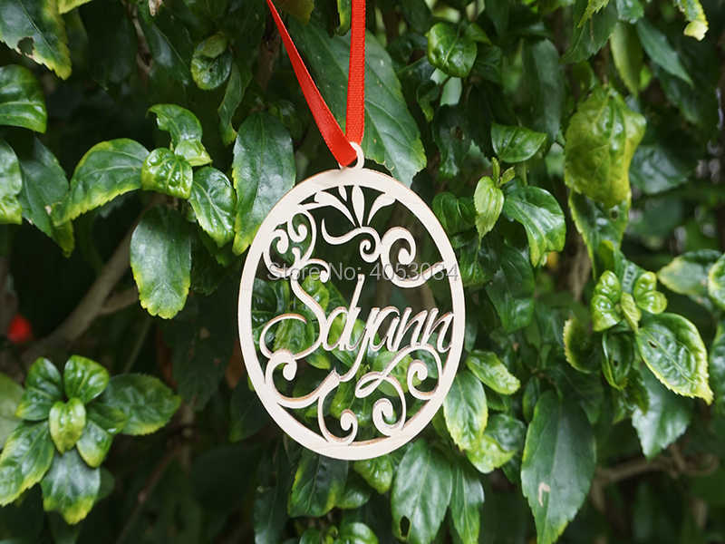 Custom Christmas Ornaments.Named Christmas Tree Ornament Custom Christmas Decorations Wood Ornament Personalized Gift Christmas Ornaments Gift For Her