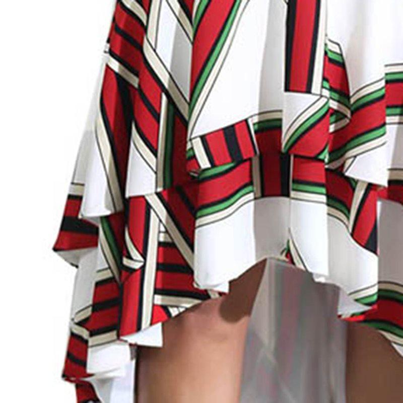 Asymétrique Bureau Femmes Doux Décontracté Jupes Dame Rouge Vintage Élégante Féminine Ruches Rétro Longues Haute D'été Mode Taille r1wPrqIX