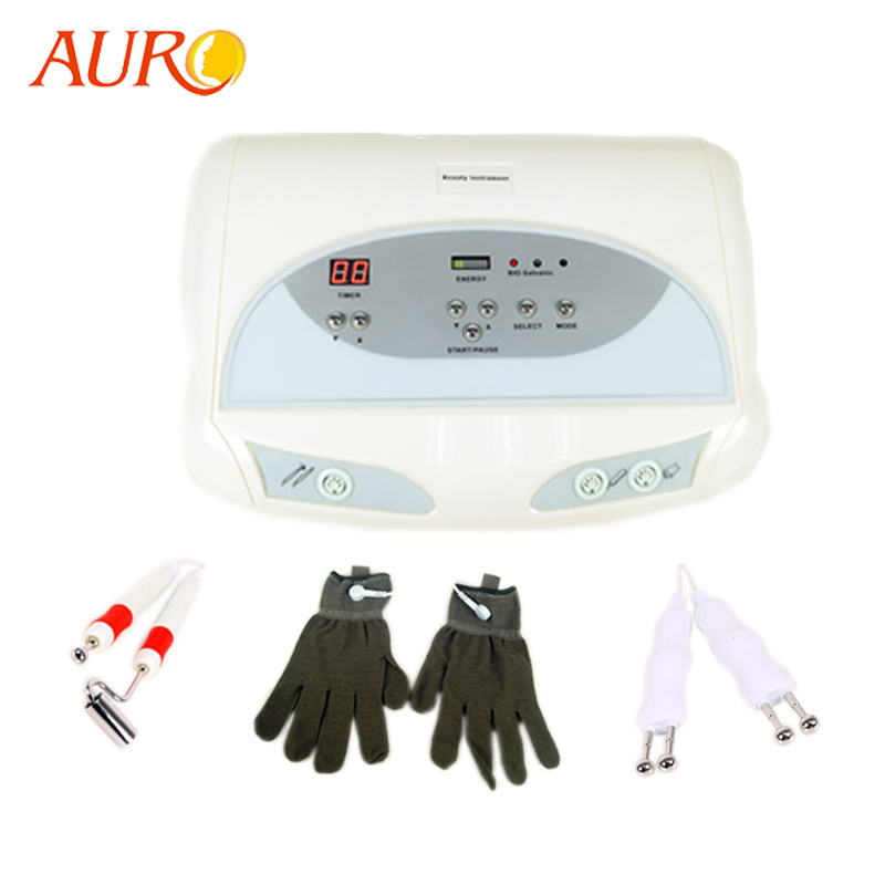 AURO 2019 New BIO Electric Electrodes Skin Lifting Machine for Wrinkle Removal / Facial Lifting / Facial Tighten with Gloves-in Massage & Relaxation from Beauty & Health
