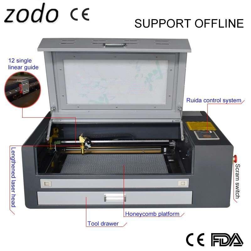 4060 ruida 400x600mm co2 máquina de gravação a laser para cabaça madeira bambu