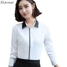 Dushicolorful New fashion women silm shirt spring autumn formal elegant blouse office ladies work wear plus size tops