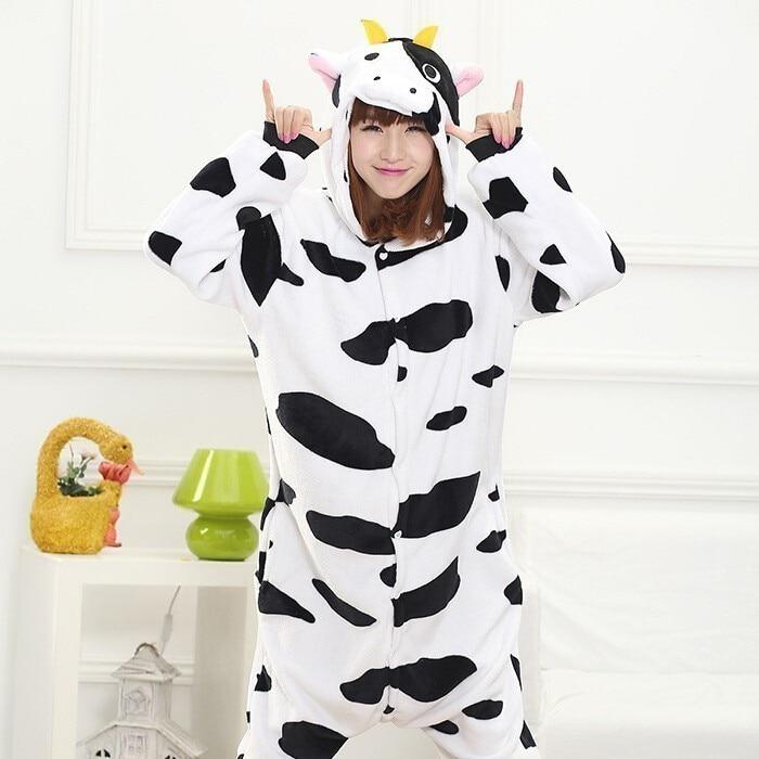 2019 New Kigurumi Pajamas For Adults Unicorn Anime Panda Onesie Costume Warm Winter Sleepwear Blanket Jumpsuit Licorne Sleepwear